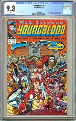 Youngblood #1 CGC 9.8 White Pages (1992) 2008984002