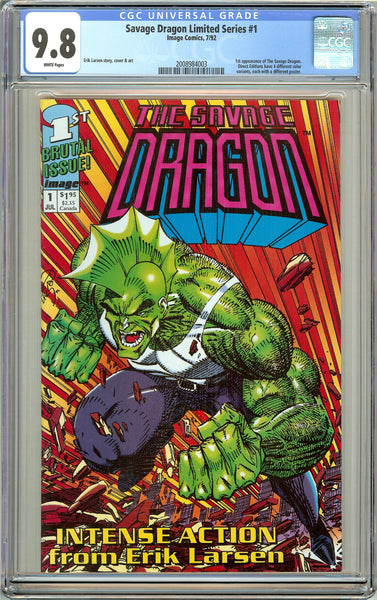 Savage Dragon Limited Series #1 CGC 9.8 White Pages (1992) 2008984003