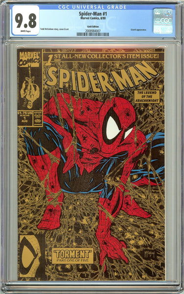 Spider-Man #1 CGC 9.8 White Pages 2008984007 Gold Edition 1990