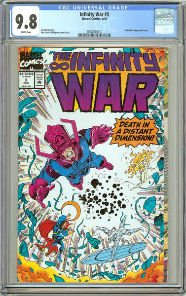 Infinity War #3 CGC 9.8 White Pages (1992) 2008984010