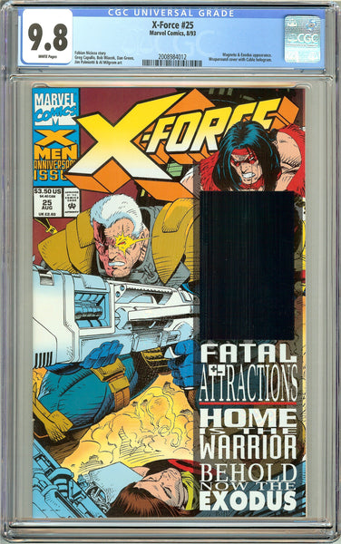 X-Force #25 CGC 9.8 White Pages (1993) 2008984012