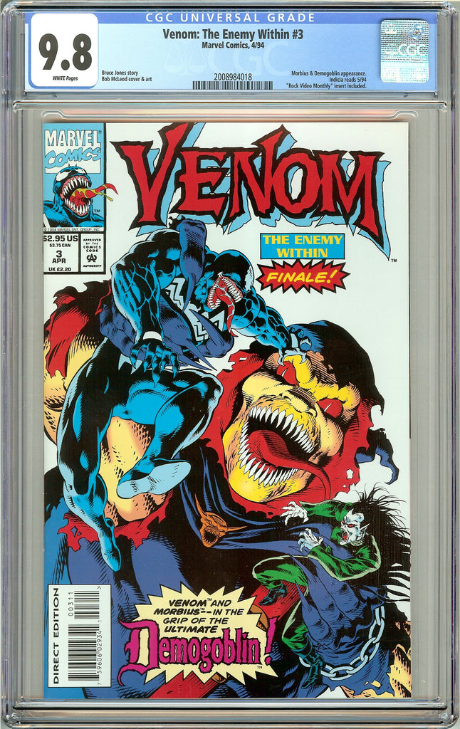 Venom The Enemy Within #3 CGC 9.8 White Pages 2008984018