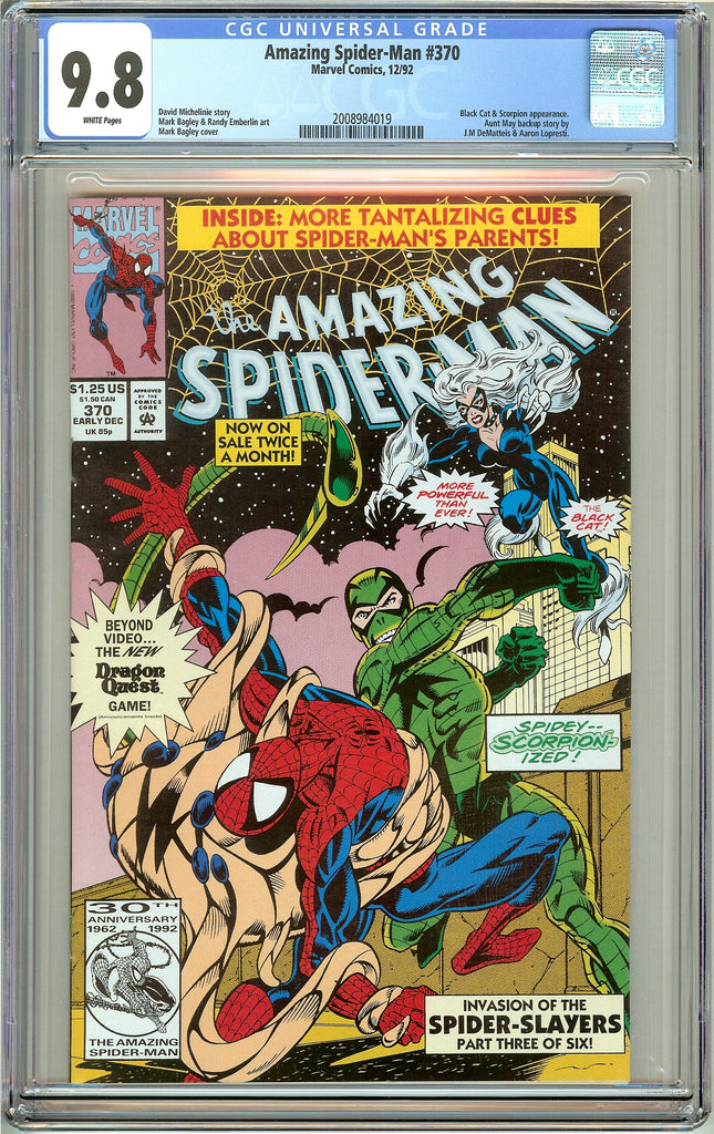 Amazing Spider-Man #370 CGC 9.8 White Pages (1992) 2008984019
