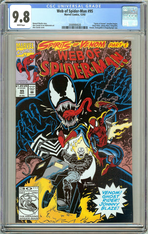 Web of Spider-Man #95 CGC 9.8 White Pages (1992) 2008984020