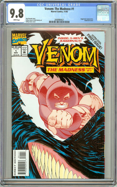 Venom The Madness #1 CGC 9.8 White Pages 2008984021 Embossed cover