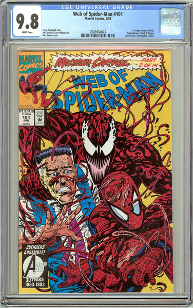 Web of Spider-Man #101 CGC 9.8 White Pages (1993) 2008984023