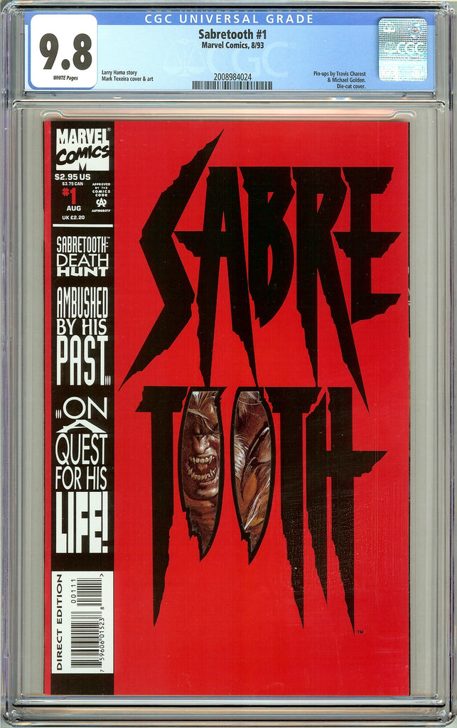 Sabretooth #1 CGC 9.8 White Pages (1993) 2008984024