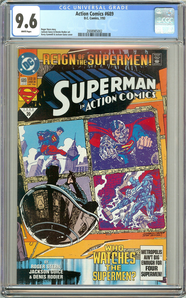 Action Comics #689 CGC 9.6 White Pages (1993) 2008985002