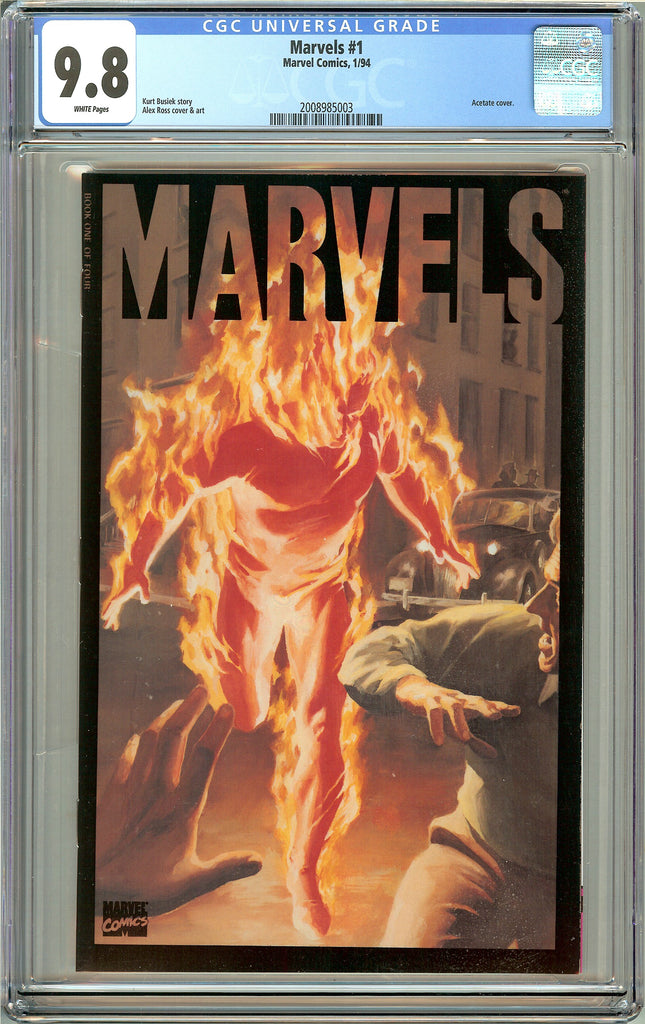 Marvels #1 CGC 9.8 White Pages (1994) 2008985003