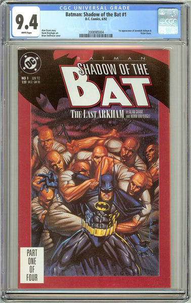 Batman: Shadow of the Bat #1 CGC 9.4 White Pages (1992) 2008985004