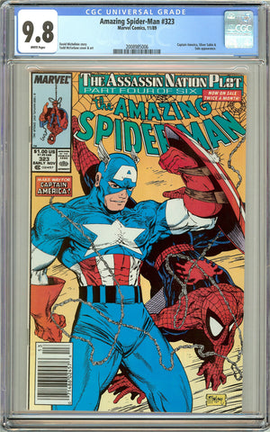 Amazing Spider-Man #323 CGC 9.8 White Pages (1989) 2008985006