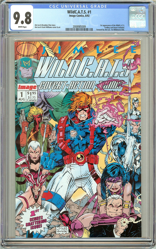 Wild C.A.T.S. #1 CGC 9.8 White Pages (1992) 2008985009