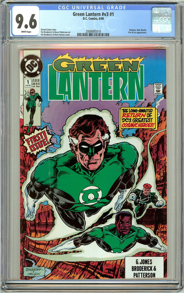 Green Lantern #v3 #1 CGC 9.6 White Pages (1990) 2008985010