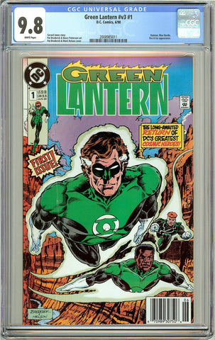 Green Lantern #v3 #1 CGC 9.8 White Pages (1990) 2008985011