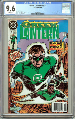 Green Lantern #v3 #1 CGC 9.6 White Pages (1990) 2008985012