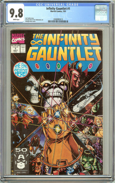 The Infinity Gauntlet #1 CGC 9.8 White Pages (1991) 2008985013