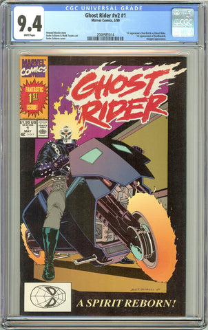 Ghost Rider #1 CGC 9.4 White Pages (1990) 2008985014