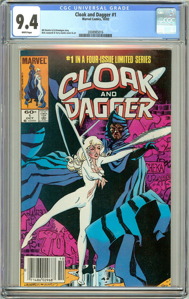 Cloak and Dagger #1 CGC 9.4 White Pages (1983) 2008985016