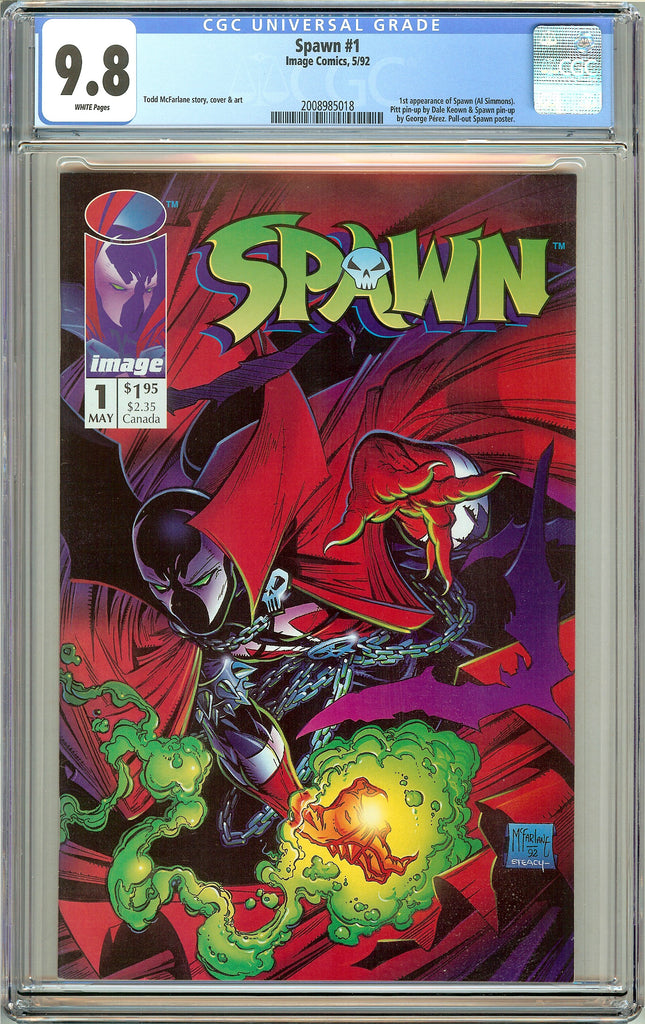 Spawn #1 CGC 9.8 White Pages (1992) 2008985018