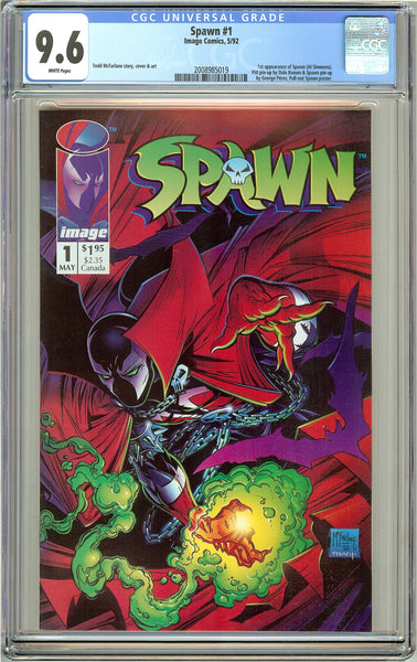 Spawn #1 CGC 9.6 White Pages (1992) 2008985019