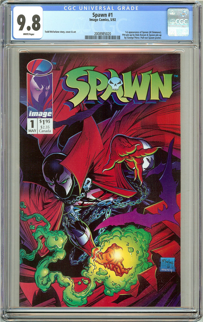 Spawn #1 CGC 9.8 White Pages (1992) 2008985020