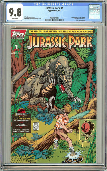 Jurassic Park #1 Topps Comics CGC 9.8 White Pages (1993) 2008985021