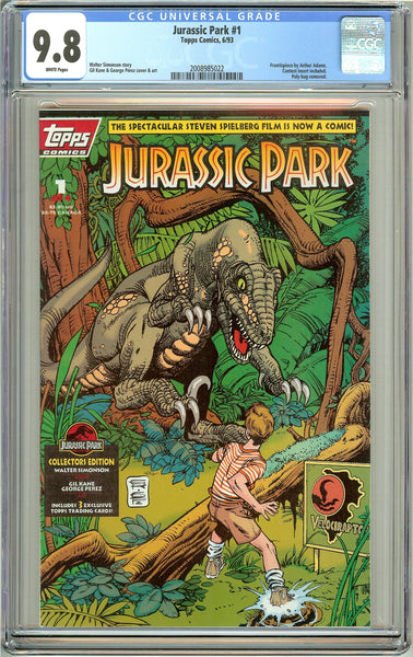 Jurassic Park #1 Topps Comics CGC 9.8 White Pages (1993) 2008985022