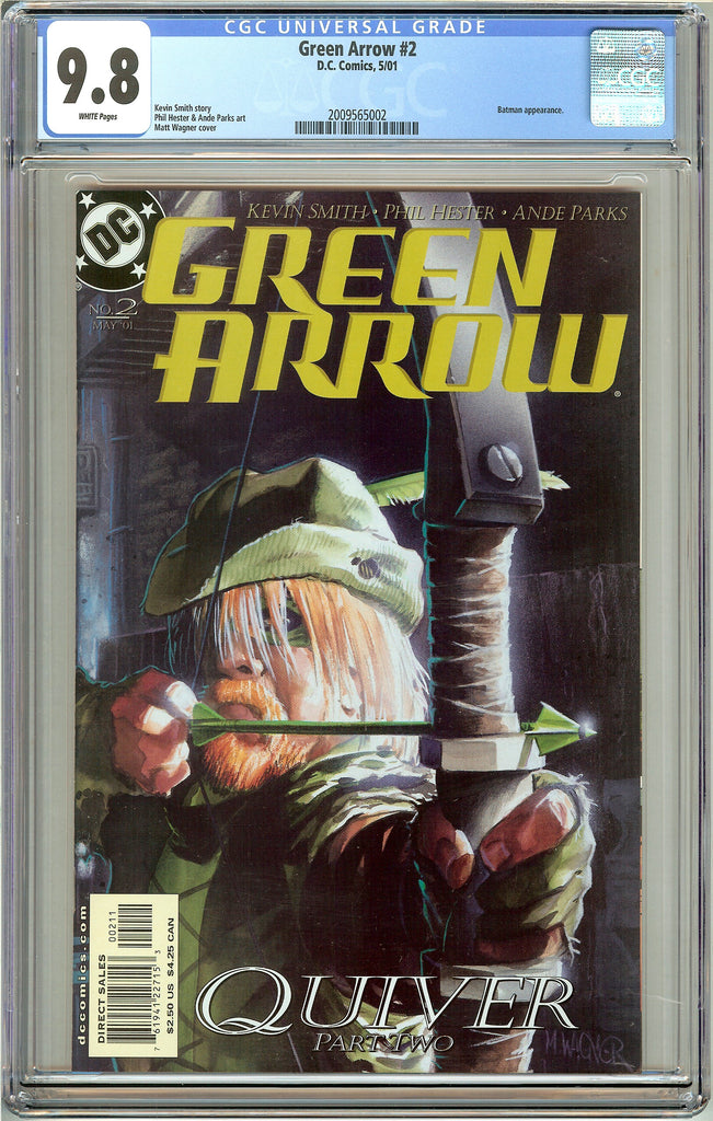 Green Arrow #2 CGC 9.8 White Pages (2001) 2009565002