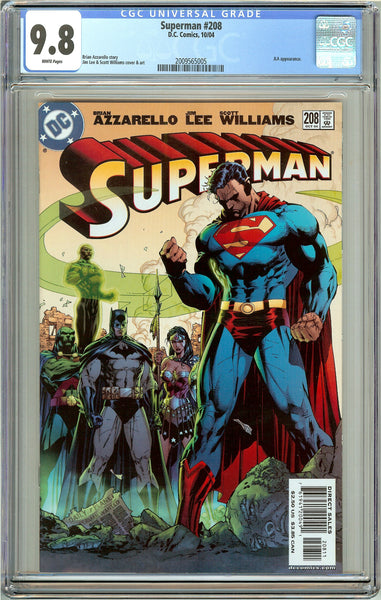 Superman #208 CGC 9.8 White Pages 2009565005