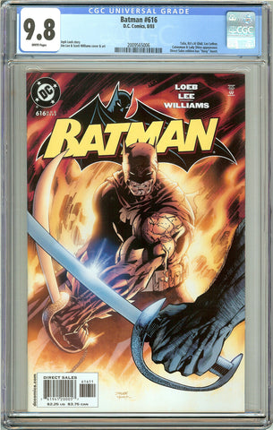 Batman # 616 CGC 9.8 White Pages (2003) 2009565006