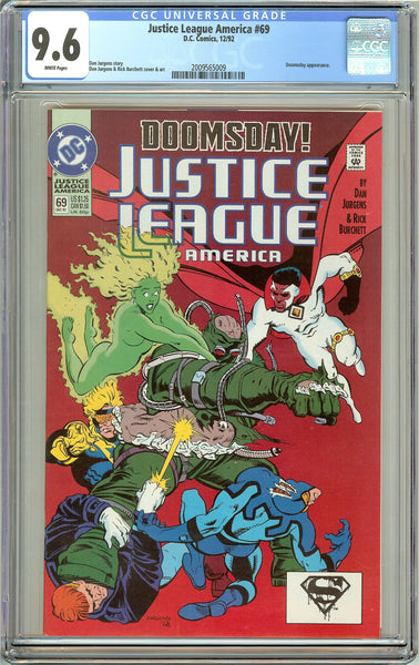 Justice League America #69 CGC 9.6 White Pages 2009565009 Doomsday