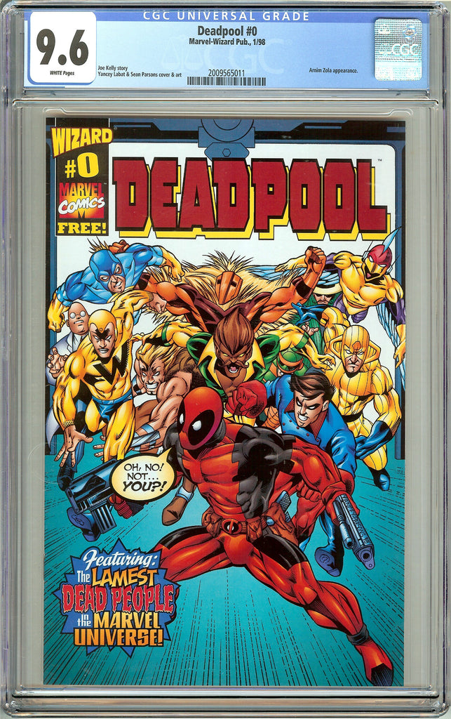 Deadpool 0 CGC 9.6 White Pages (1998) 2009565011 Wizard