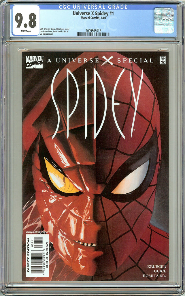 Universe X Spidey #1 CGC 9.8 White Pages (2001) 2009565012