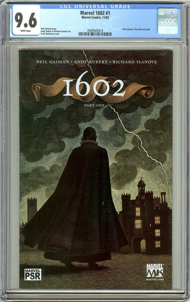 Marvel 1602 #1 CGC 9.6 White Pages (2003) 2009565014