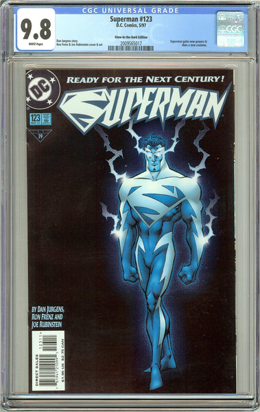 Superman #123 CGC 9.8 White Pages 2009565017 Glow-in-the-Dark Edition
