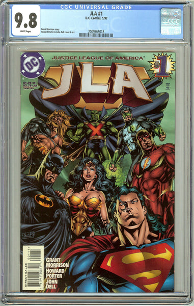 JLA #1 CGC 9.8 White Pages (1997) 2009565018