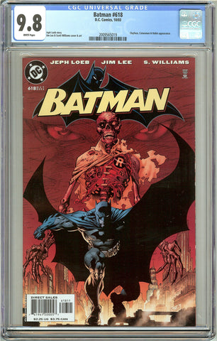 Batman # 618 CGC 9.8 White Pages (2003) 2009565019