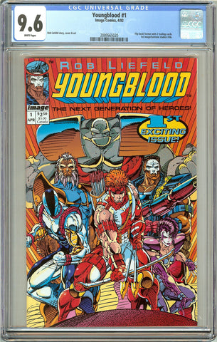 Youngblood #1 CGC 9.6 White Pages (1992) 2009565020