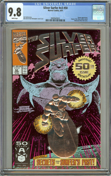 Silver Surfer #v3 #50 CGC 9.8 White Pages 2009565022