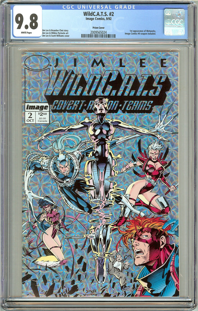 WildC.A.T.S. #2 CGC 9.8 White Pages (1992) 2009565024 Prism Cover