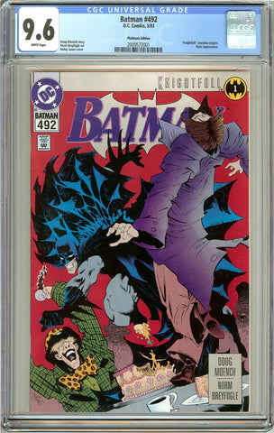 Batman # 492 CGC 9.6 White Pages (1993) 2009572001 Platinum Edition