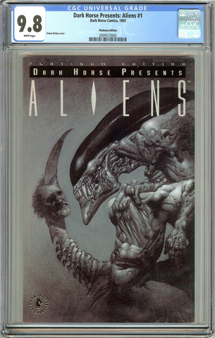 Dark Horse Presents Aliens #1 CGC 9.8 White Pages 2009572002 Platinum Edition