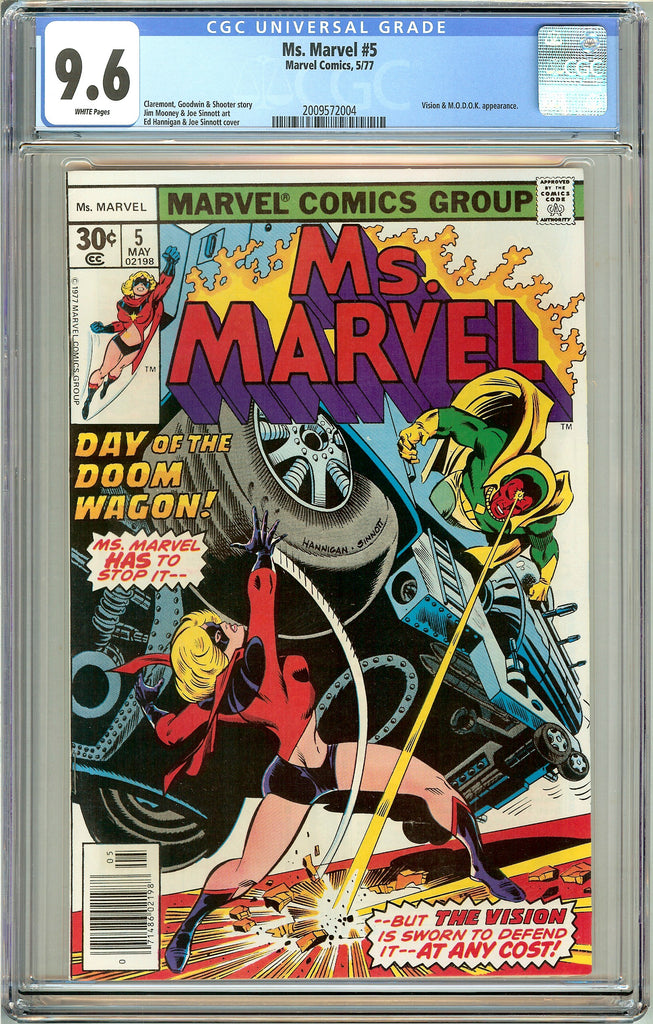 Ms. Marvel #5 CGC 9.6 White Pages (1977) 2009572004