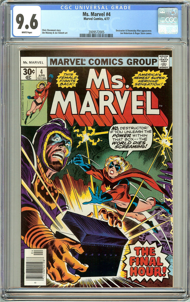 Ms. Marvel #4 CGC 9.6 White Pages (1977) 2009572005