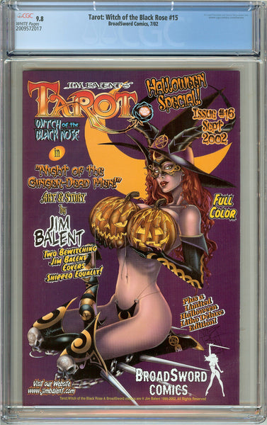 Tarot Witch of the Black Rose #15 CGC 9.8 WP 2009572017 w/ Signed Lithograph