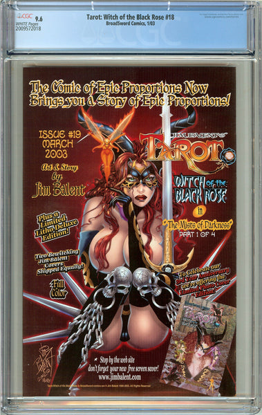 Tarot Witch of the Black Rose #18 CGC 9.6 WP 2009572018 w/ Signed Lithograph