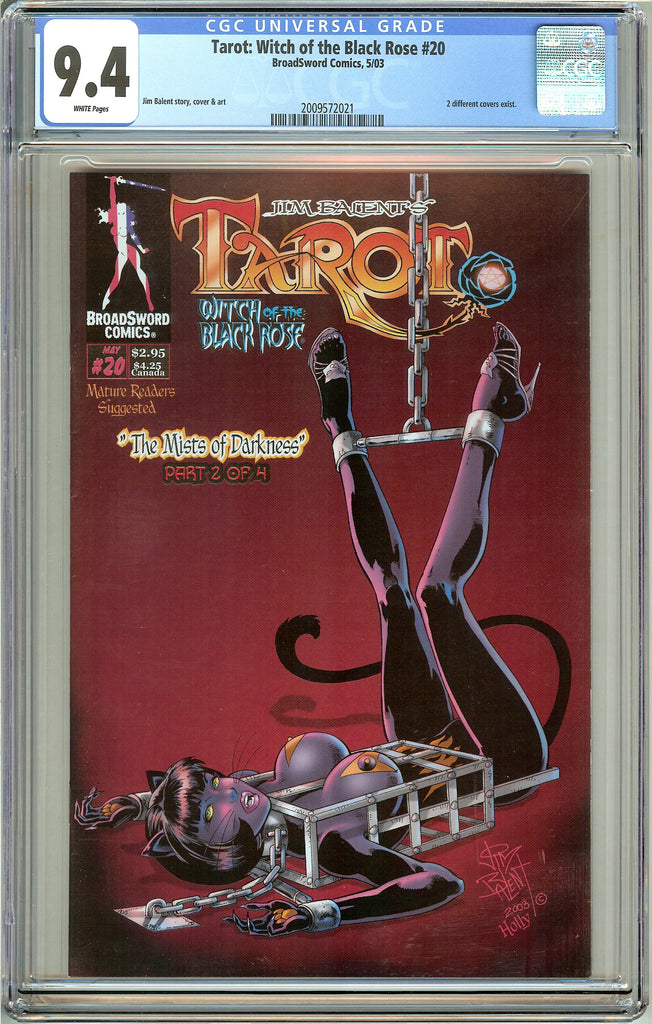 Tarot Witch of the Black Rose #20 CGC 9.4 WP 2009572021 w/ Signed Lithograph