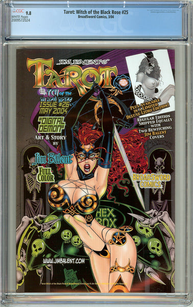 Tarot Witch of the Black Rose #25 CGC 9.8 WP 2009572024 w/ Signed Lithograph