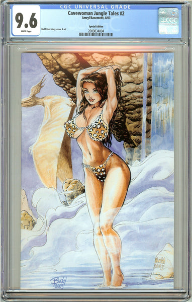 Cavewoman Jungle Tales #2 CGC 9.6 White Pages 2009834004 Special Edition