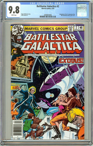 Battlestar Galactica #2 CGC 9.8 White Pages (1979) 2009834006